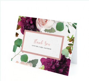 CHALLENGE #15:  I know a hand-written thank-you car is far more personal than an email but also more expensive.  Is there a way to repurpose a thank-you card?