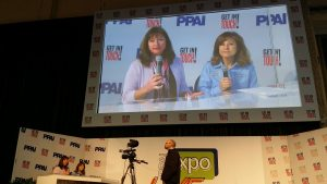 On the BIG screen at PPAI Expo