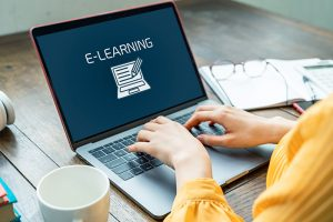 e-learning concept Online course